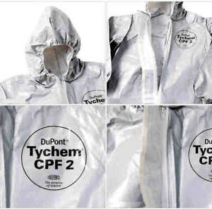 Dupont Tychem Cpf2 Chemical Protective Suit Size 2x large c2122t Brand New