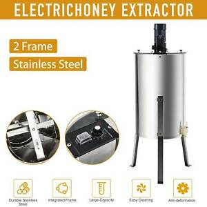 2 4 Frame Electric Honey Extractor Ss Beekeeping Equipment Spinner Drum W Stand