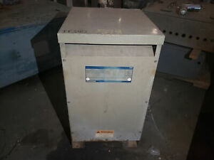 General Electric 37 5 Kva 240x480 120 240 Volt Single Phase Dry Type Transformer