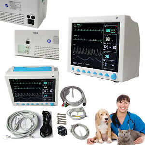 Us Veterinary Patient Monitor Animal Portable Monitor Nibp Spo2 Ecg Temp Resp Pr
