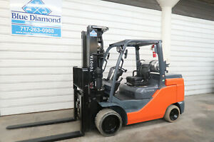2016 Toyota Forklift 8fgc55u 12 000 Cushion Tire Lp Gas Triple S s