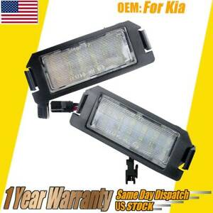 2x Led Number License Plate Light Lamps For Veloster Genesis Coupe Kia Soul Ev