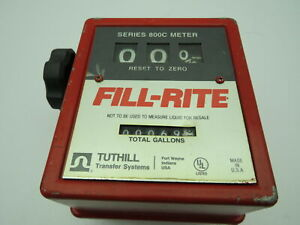 Tuthill Transfer System Fill rite 800c Series Meter