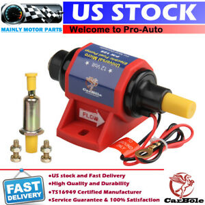 12v Universal Electric Gasoline Gas Fuel Pump Transfer Carburetor 35 Gph 4 7 Psi