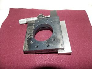 Spring Loaded Stage M425a Newport Research Corp Nrc With Starrett Micrometer