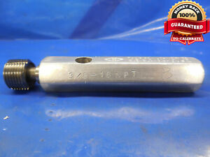 3 8 18 Npt L1 Pipe Thread Plug Gage 375 Go Only 3 8 18 N P T 3750 Quality