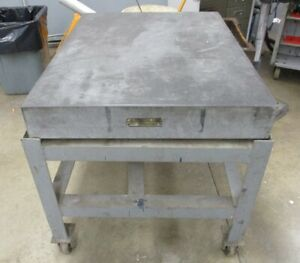 Granite Surface Plate 4 X 3 W Stand For Machinist Used Local Pickup Only