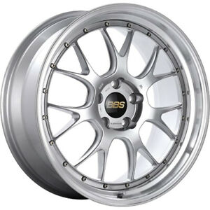 4 Staggered 19x8 5 19x9 5 Bbs Lmr Silver Machined 5x112 38 38 Wheels Rims