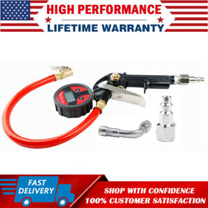 Lcd Digital Air Tire Tyre Inflator Pressure Gauge High Accurate With Dual Chuck