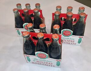 Vintage 1988 Coca-Cola 6.5oz 6Pack-Limited Christmas Holiday Caddy