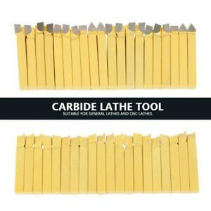 20 3 8 Carbide Tip Tipped Cutter Tool Bit Cutting Set For Metal Lathe Tooling