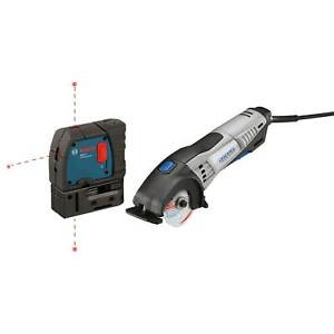 Dremel Circular Saw With Bosch 3 Point Alignment Laser certified Refurbished