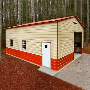 24x30x12 Steel Garage priced For Tx va Free Del Installation prices Vary