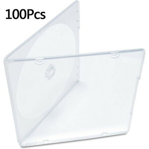 100 Slim Single Clear Pp Poly Cd Jewel Case Blank Disc Replacement Cover Plastic