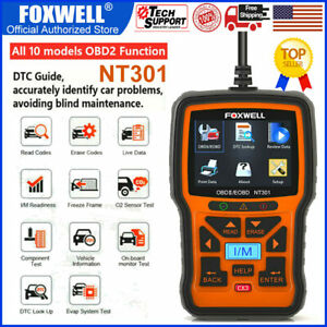 Foxwell Nt301 Universal Automotive Obdii Scanner Car Engine Check Code Reader