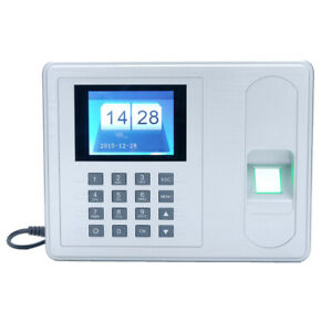 Fingerprint Attendance Machine Time Clock Employee Checking in Reader Dc 5v Z9w1