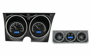 Dakota Digital 67 Camaro W console Gauges Black Face blue Disp Vhx 67c cac k b