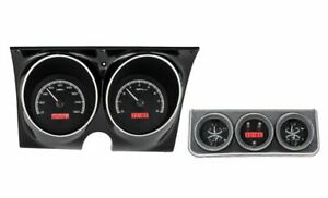 Dakota Digital 67 Camaro W console Gauges Black Face red Disp Vhx 67c cac k r