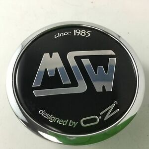 Msw By Oz Black On Chrome Center Cap Xc512pch Snap In 2 5 Dia