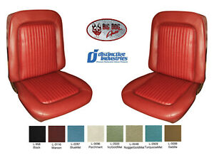 1968 Mustang Front Bucket Seat Covers Upholstery Any Color By Distinctive Ind