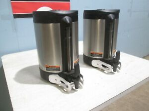 bunn Sh Server Hd Commercial Ss Lot Of 2 1 5gal Air Pots Coffee Dispensers