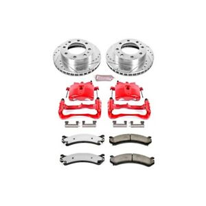Kc2020 36 Powerstop 2 Wheel Set Brake Disc And Caliper Kits Front For Chevy