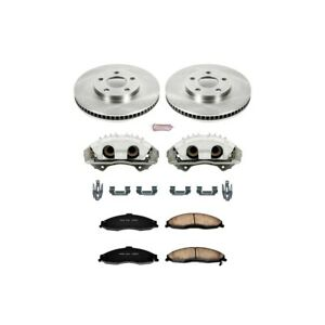 Kcoe1547 Powerstop 2 wheel Set Brake Disc And Caliper Kits Front For Chevy