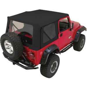 Rt10435t Rt Off road Soft Top New Black For Jeep Wrangler 1997 2006