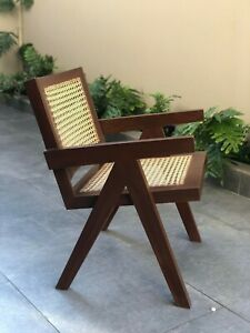 Pierre Jeanneret Chandigarh Chair Mid Century Reproduction Exotic Wood
