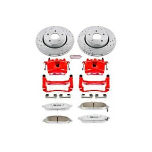 Kc2219 26 Powerstop 2 wheel Set Brake Disc And Caliper Kits Front For Jeep 05 10