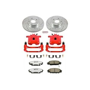 Kc2439 26 Powerstop Brake Disc And Caliper Kits 2 wheel Set Front Coupe Sedan