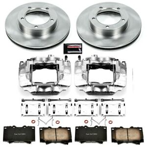 Kcoe1132a Powerstop Brake Disc And Caliper Kits 2 wheel Set Front New For Toyota