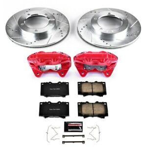 Kc1132a Powerstop Brake Disc And Caliper Kits 2 wheel Set Front New For Toyota