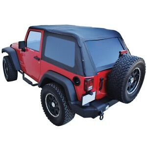 Brt20135t Rt Off road Soft Top New Black For Jeep Wrangler Jk 2018