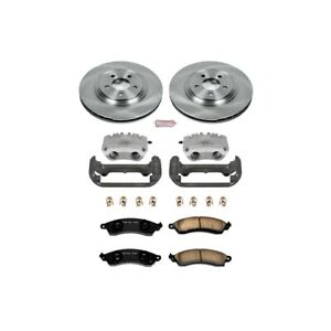 Kcoe1304c Powerstop Brake Disc And Caliper Kits 2 wheel Set Front For Mustang