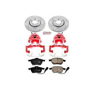 Kc898 Powerstop Brake Disc And Caliper Kits 2 wheel Set Front For Vw Beetle Golf