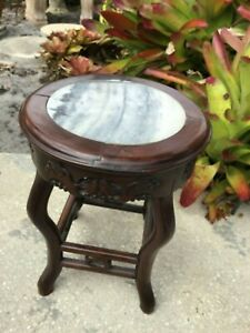 19th Century Chinese hardwood jardiniere stand 18quot;