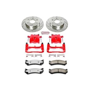 Kc2009 36 Powerstop 2 Wheel Set Brake Disc And Caliper Kits Front For Chevy