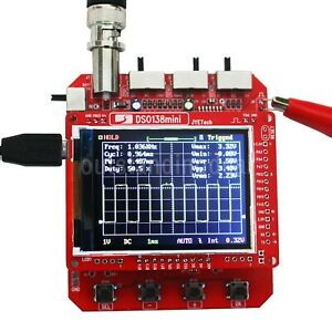 Dso138mini Digital Oscilloscope Assembled W Transparent Shell Upload Data To Pc