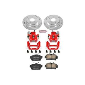 Kc1306a Powerstop 2 Wheel Set Brake Disc And Caliper Kits Rear For Ford Mustang