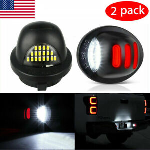 2x Led License Plate Light Assembly Replacemen For Ford F150 F250 F350 1990 2014