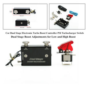 Dual Stage Electronic Turbo Boost Controller Psi Turbocharger W switch Accessory