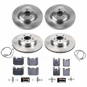 Tdbk7012 Powerstop 4 wheel Set Brake Disc And Pad Kits Front Rear New For 335i