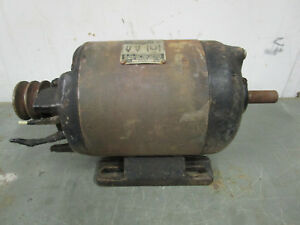 Vintage Craftsman 3 4th Hp Induction Electric Motor 3450 Rpm Dual Shaft