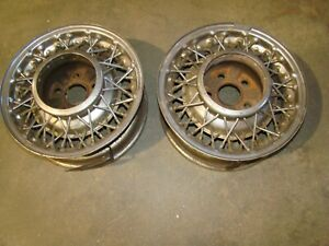 1957 1963 Thunderbird Original Wire Wheels T bird Sport Roadster E Bird F 406