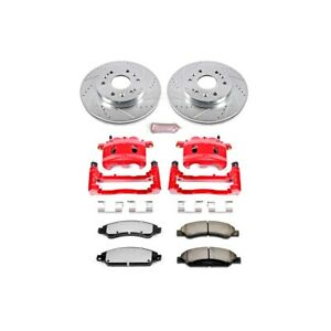 Kc2067 36 Powerstop Brake Disc And Caliper Kits 2 Wheel Set Front For Chevy