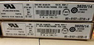 New 30 Meter Roll Of 3625 14 Ribbon Cable 28 Awg 14 Conductor 105c 300v Rohs
