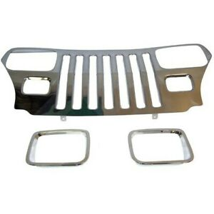 Rt34045 Rt Off road Grille New For Jeep Wrangler 1987 1995