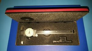 Starrett 120 6 Dial Caliper 0 6 White Dial Face And Red Case 120 Made In Usa