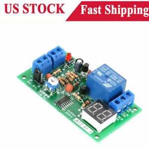 Dc 12v Led Display Cycle Delay Time Timing Timer Relay Switch Turn On off Module